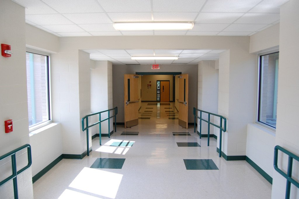 Sheridan School District's East End Intermediate School Addition Walkway