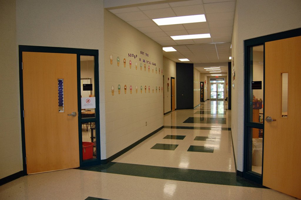 Sheridan School District's East End Intermediate School Addition Hallway