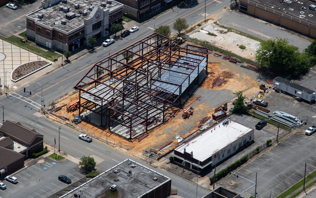 Pine Bluff Main Library Update! June Aerial Photos…