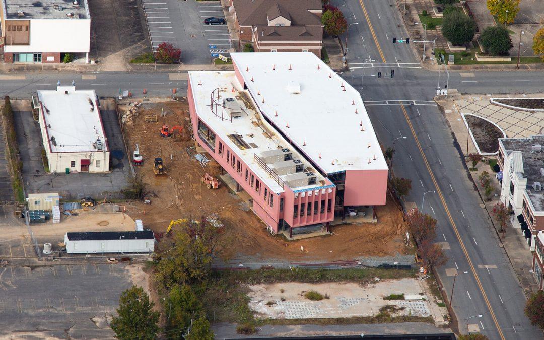 Pine Bluff Main Library Aerial Photos…