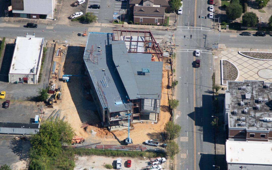 GREAT New Aerial Photos of the Pine Bluff Main Library!