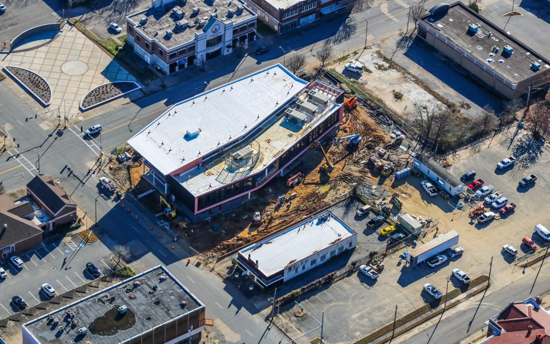 Pine Bluff Main Library Aerial Photos – January 2020