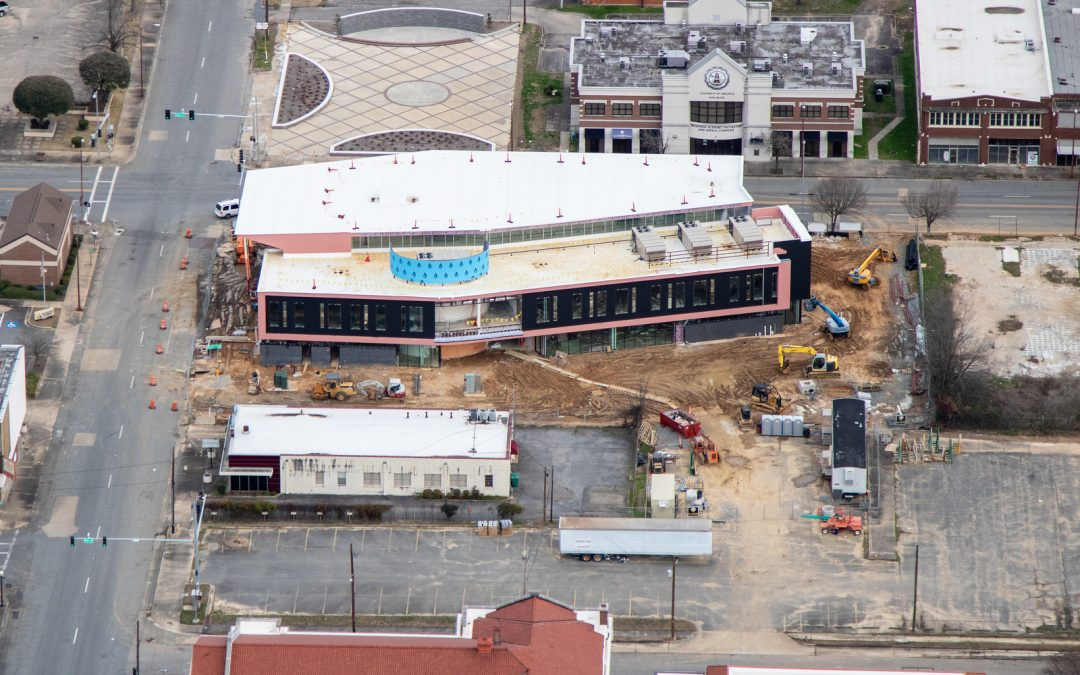 Pine Bluff Library Aerial Photos!