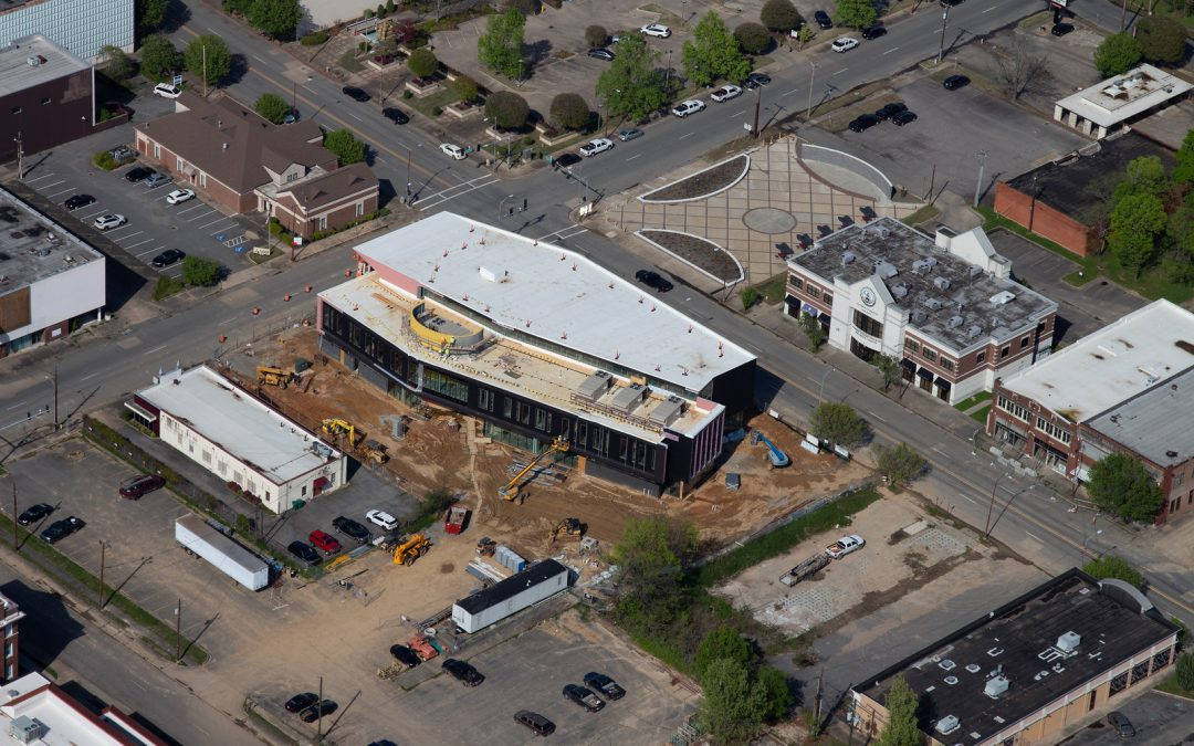 Pine Bluff Main Library Aerial Photos-March 2020
