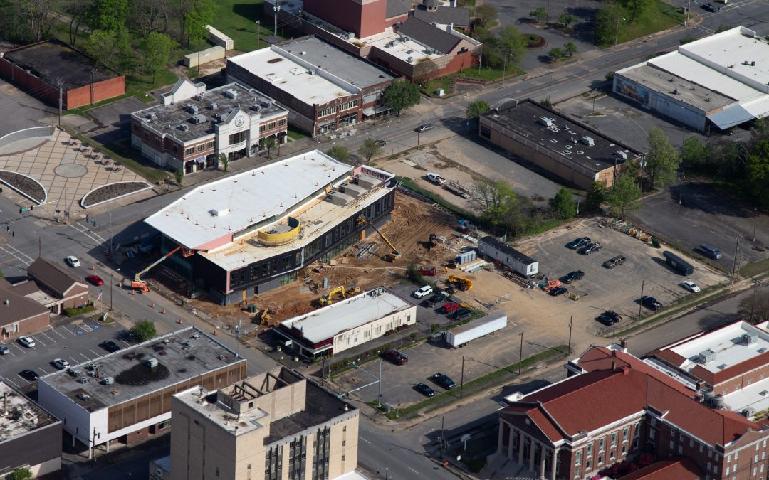 Pine Bluff Main Library Aerial Photos-March 2020…