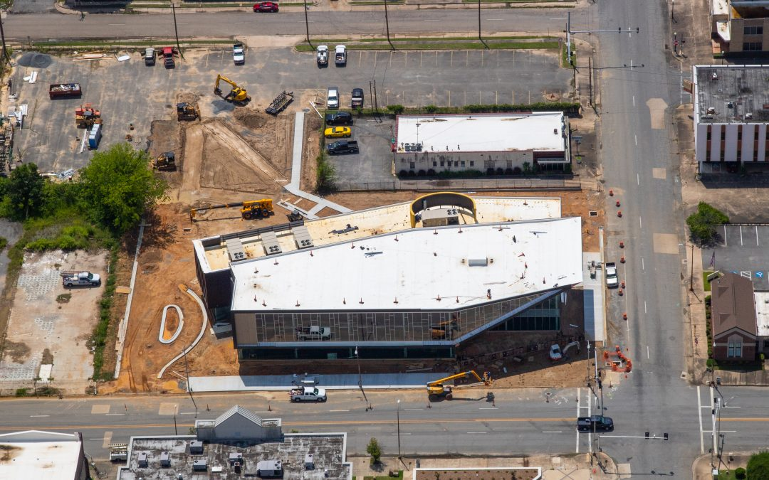 Pine Bluff Main Library-New Aerial Photos